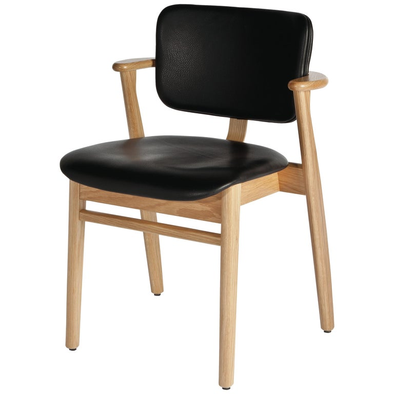 Ilmari Tapiovaara Domus Chair in Natural Oak and Leather for Artek