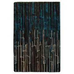 Kasai Hand-Tufted Tencel Rug in Blue and Brown