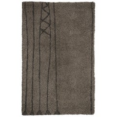 Papua Hand-Knotted Dyed Wool Rug in Brown Gradient