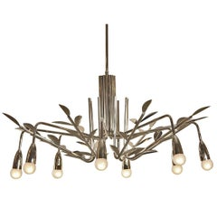 "Mid-Century Modern ""Snowflake"" Chandelier 1960ies Edition by Woka"