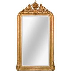 19th Century French Louis Philippe Cherubic Mirror