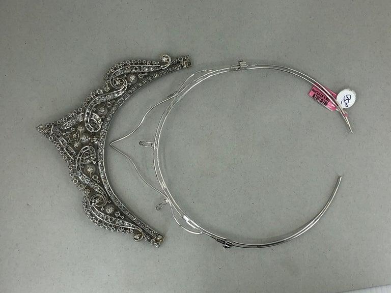 David Webb Diamond Pearl Gold Platinum Necklace / Tiara For Sale 1