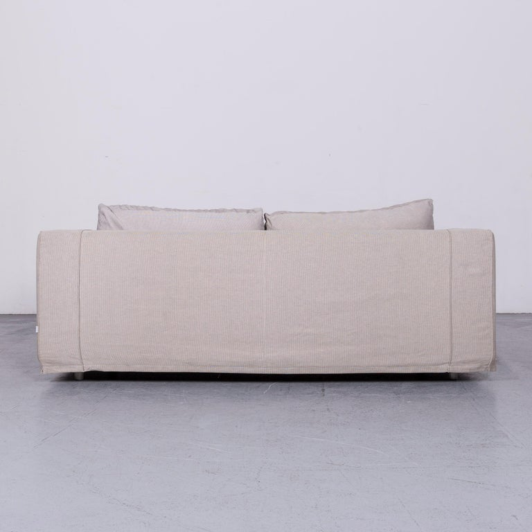 B&B Italia Basiko Fabric Sofa Grey Two-Seat Couch 4