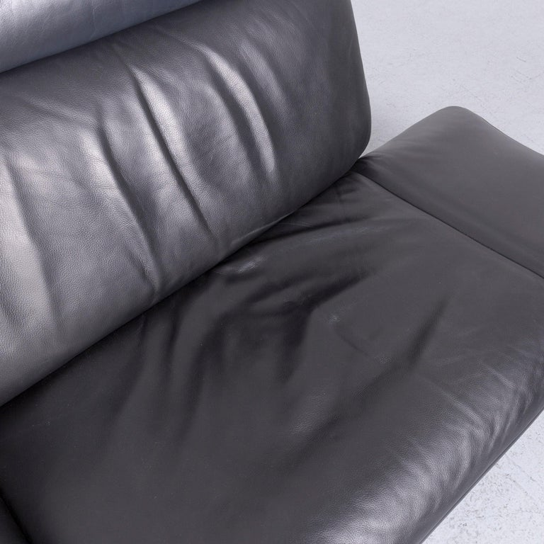 De Sede Ds 140 Designer Leather Sofa Black Three-Seat Function Modern 5