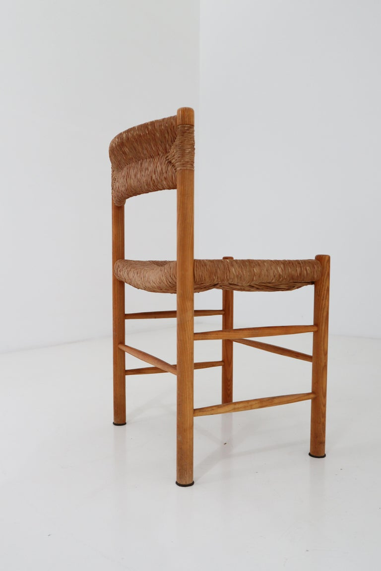 "Four ""Dordogne"" Chairs by Charlotte Perriand for Robert Sentou For Sale 3"
