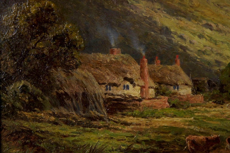 Henry Parker Oil Landscape Painting of Shepherd's Cottage For Sale 3