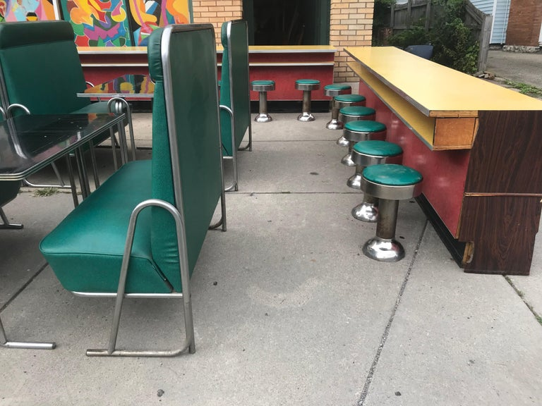 Original Art Deco Diner, Seats 40 Designed by Wolfgang Hoffmann for Howell 1930s For Sale 5
