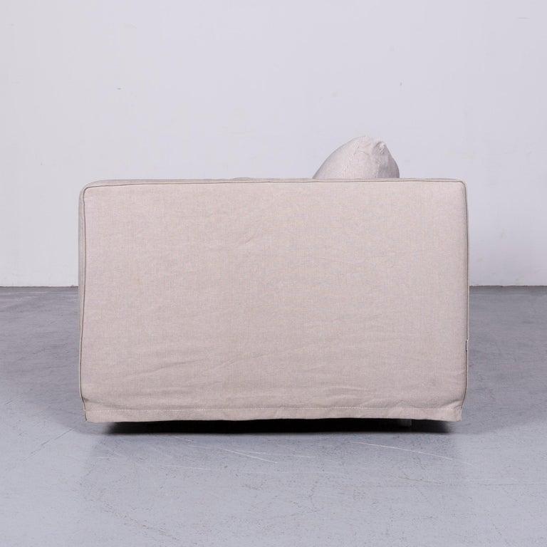 B&B Italia Basiko Fabric Sofa Grey Two-Seat Couch 5