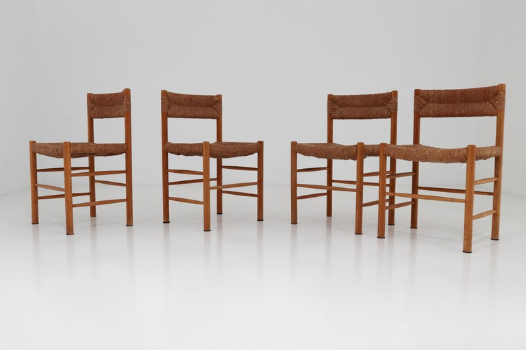 "Four ""Dordogne"" Chairs by Charlotte Perriand for Robert Sentou For Sale 4"