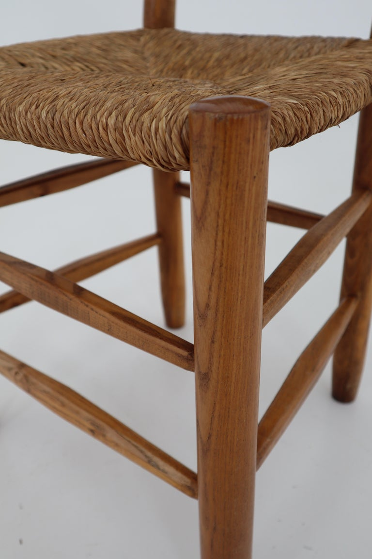 "Three ""Bauche"" Chairs by Charlotte Perriand for Steph Simon, France 1950s For Sale 4"