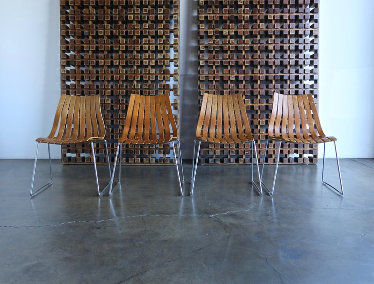 Hans Brattrud Scandia Dining Chairs for Hove Mobler, Norway For Sale 4