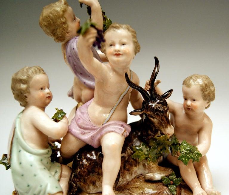 Meissen Four Seasons Figurines by Kaendler, circa 1850 For Sale 4