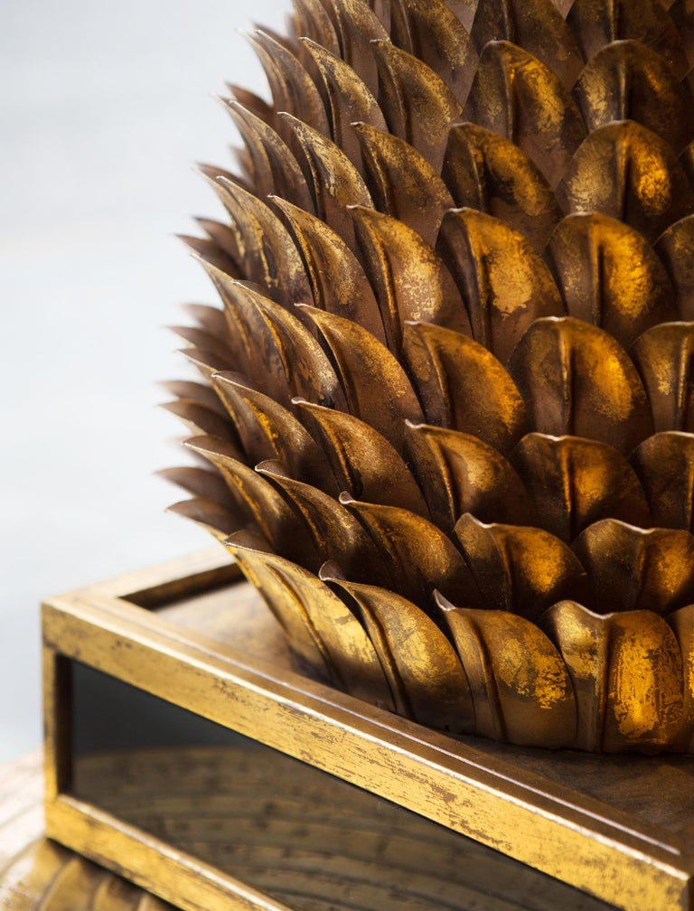 Gilded Apple Pie Table Lamp in Gold Finish For Sale 5