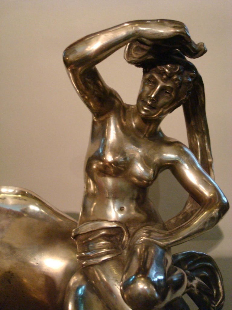 Classic Nude Women Bronze Sculpture Champagne, Wine Cooler, France For Sale 5