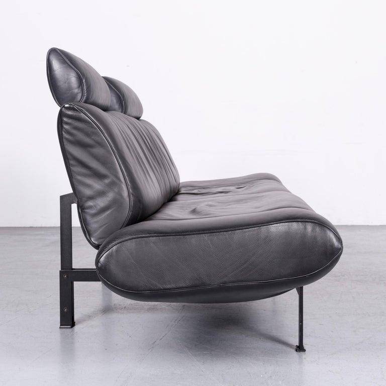 De Sede Ds 140 Designer Leather Sofa Black Three-Seat Function Modern 8