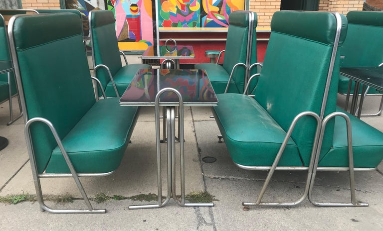 Original Art Deco Diner, Seats 40 Designed by Wolfgang Hoffmann for Howell 1930s For Sale 8