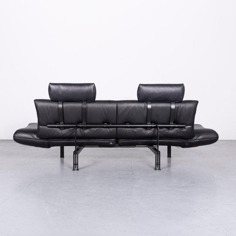 De Sede Ds 140 Designer Leather Sofa Black Three-Seat Function Modern 9