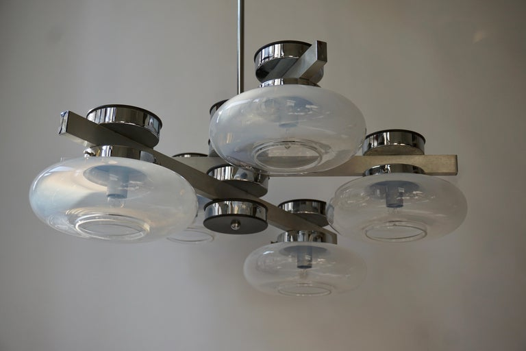Italian Murano Glass Chandelier For Sale 8