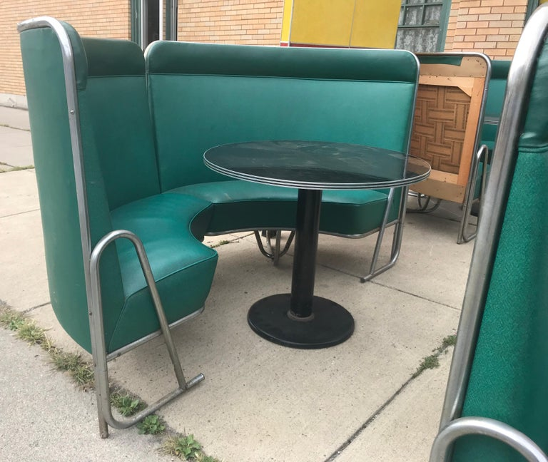 Original Art Deco Diner, Seats 40 Designed by Wolfgang Hoffmann for Howell 1930s For Sale 9