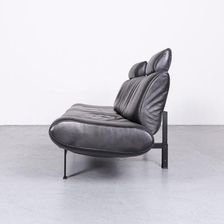 De Sede Ds 140 Designer Leather Sofa Black Three-Seat Function Modern 10