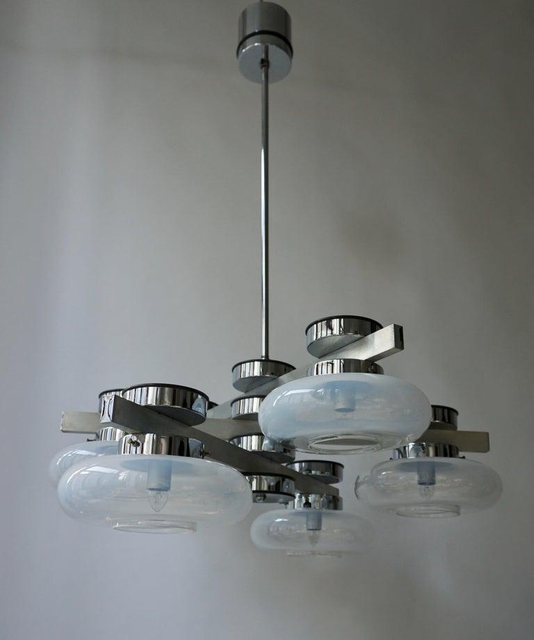 Italian Murano Glass Chandelier For Sale 9