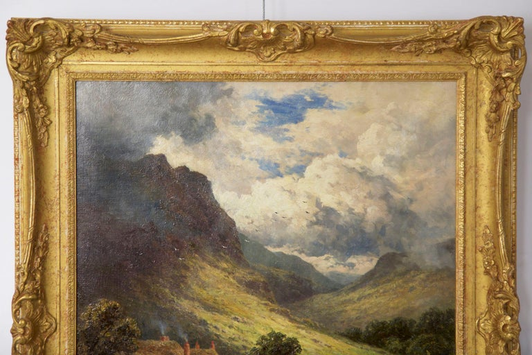 Henry Parker Oil Landscape Painting of Shepherd's Cottage For Sale 8