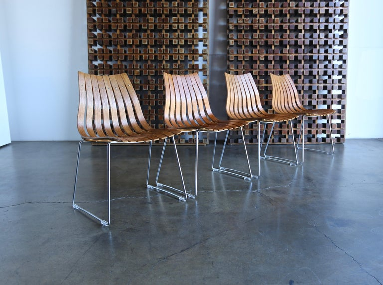 Hans Brattrud Scandia Dining Chairs for Hove Mobler, Norway For Sale 9