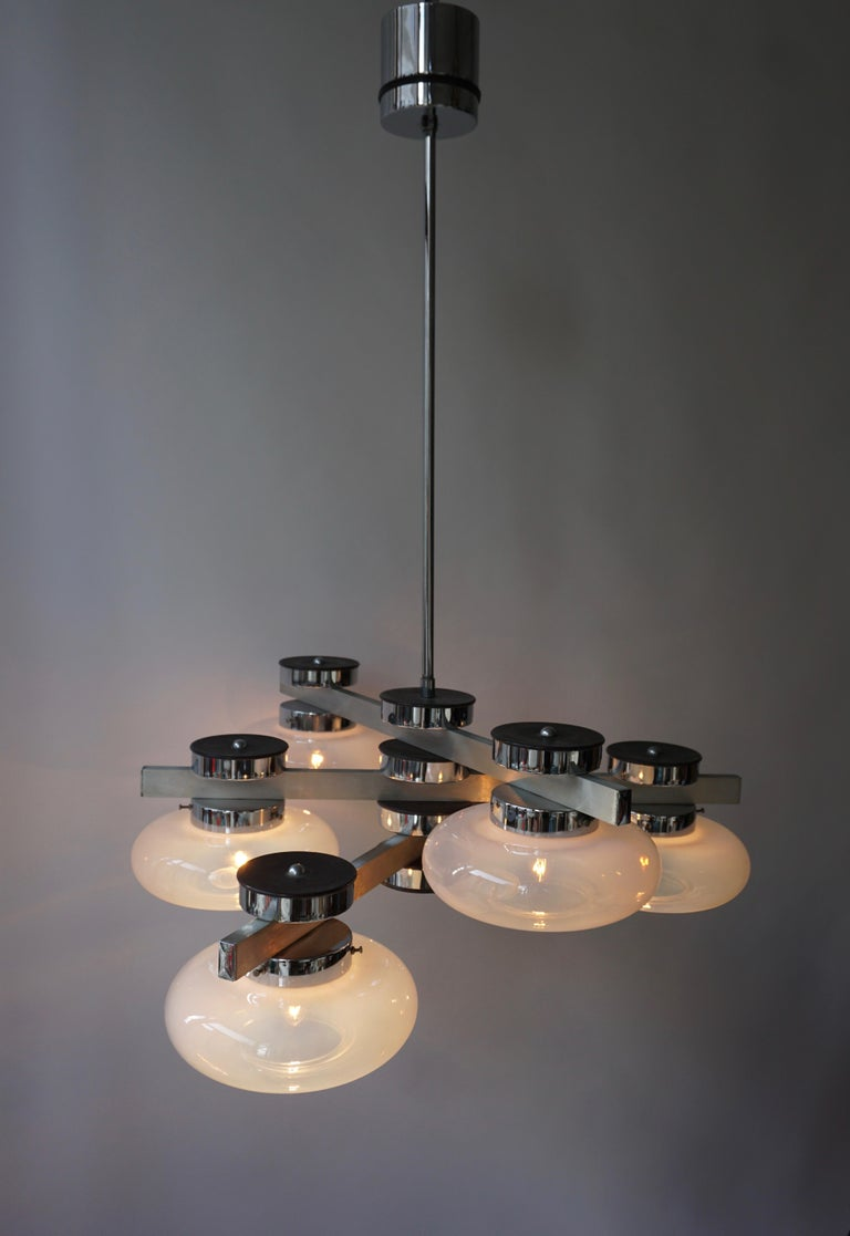 Italian Murano Glass Chandelier For Sale 10