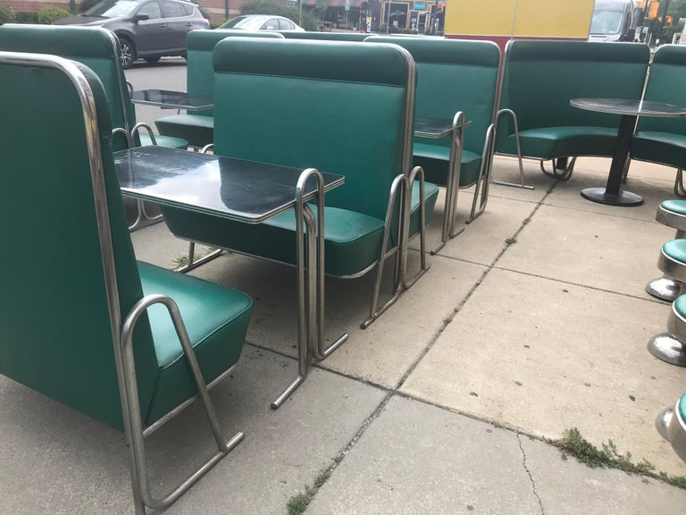 Original Art Deco Diner, Seats 40 Designed by Wolfgang Hoffmann for Howell 1930s For Sale 11