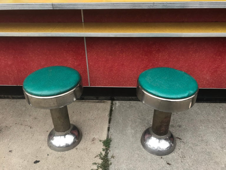 Original Art Deco Diner, Seats 40 Designed by Wolfgang Hoffmann for Howell 1930s For Sale 13
