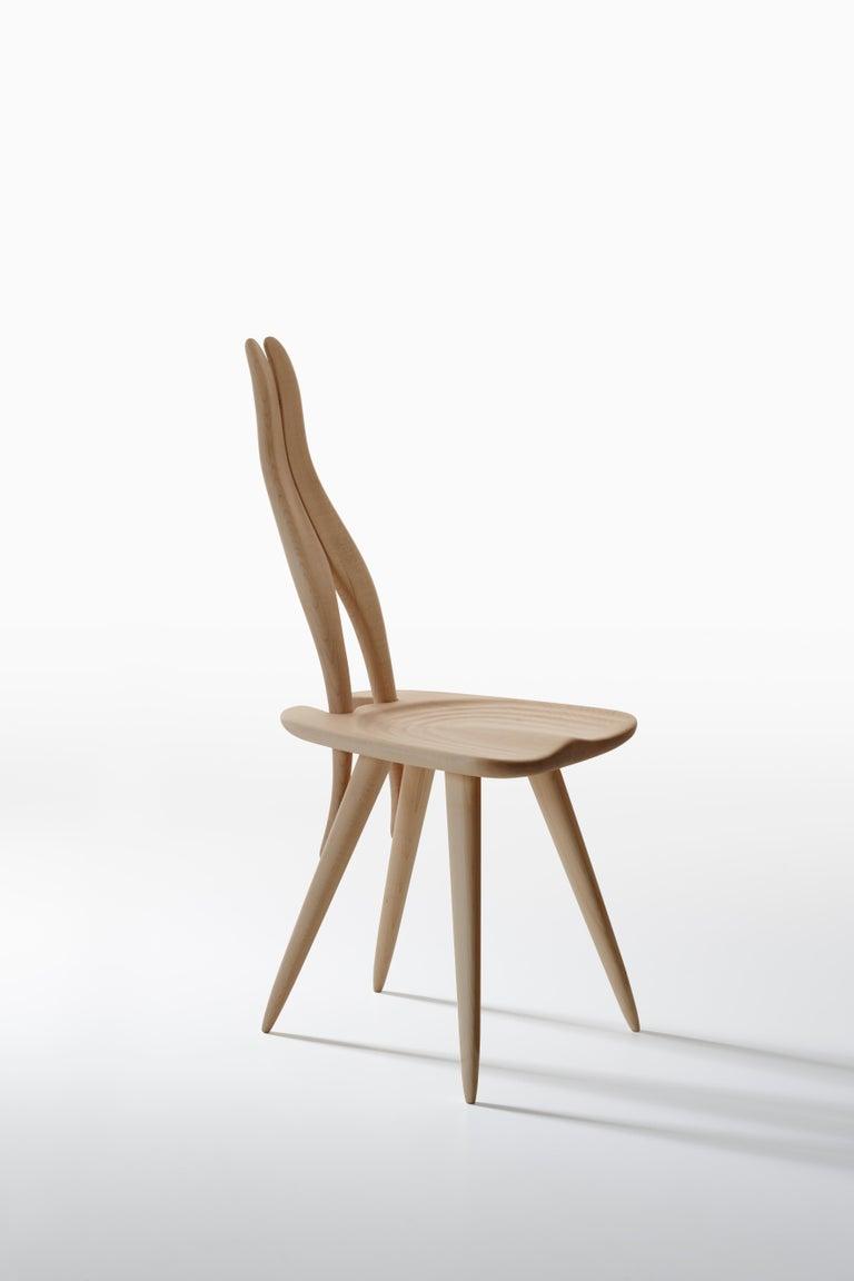 Fenis Side Chair in Black by Carlo Mollino 2