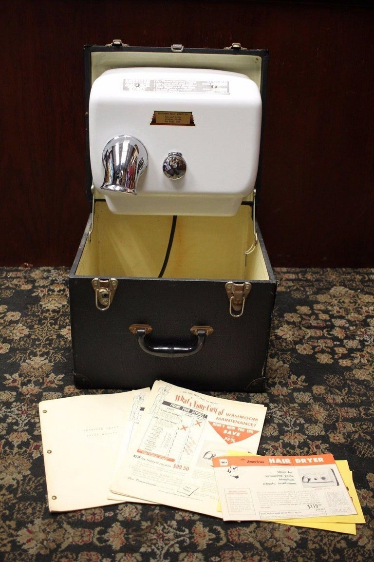 Model SA-10 Serial# 10525 Southern California Dryer Co. Sales and service  Original brochures and salesman manual. Original carrying case is included. case shows most of the wear , as well as some discoloring inside the case. Still works! when