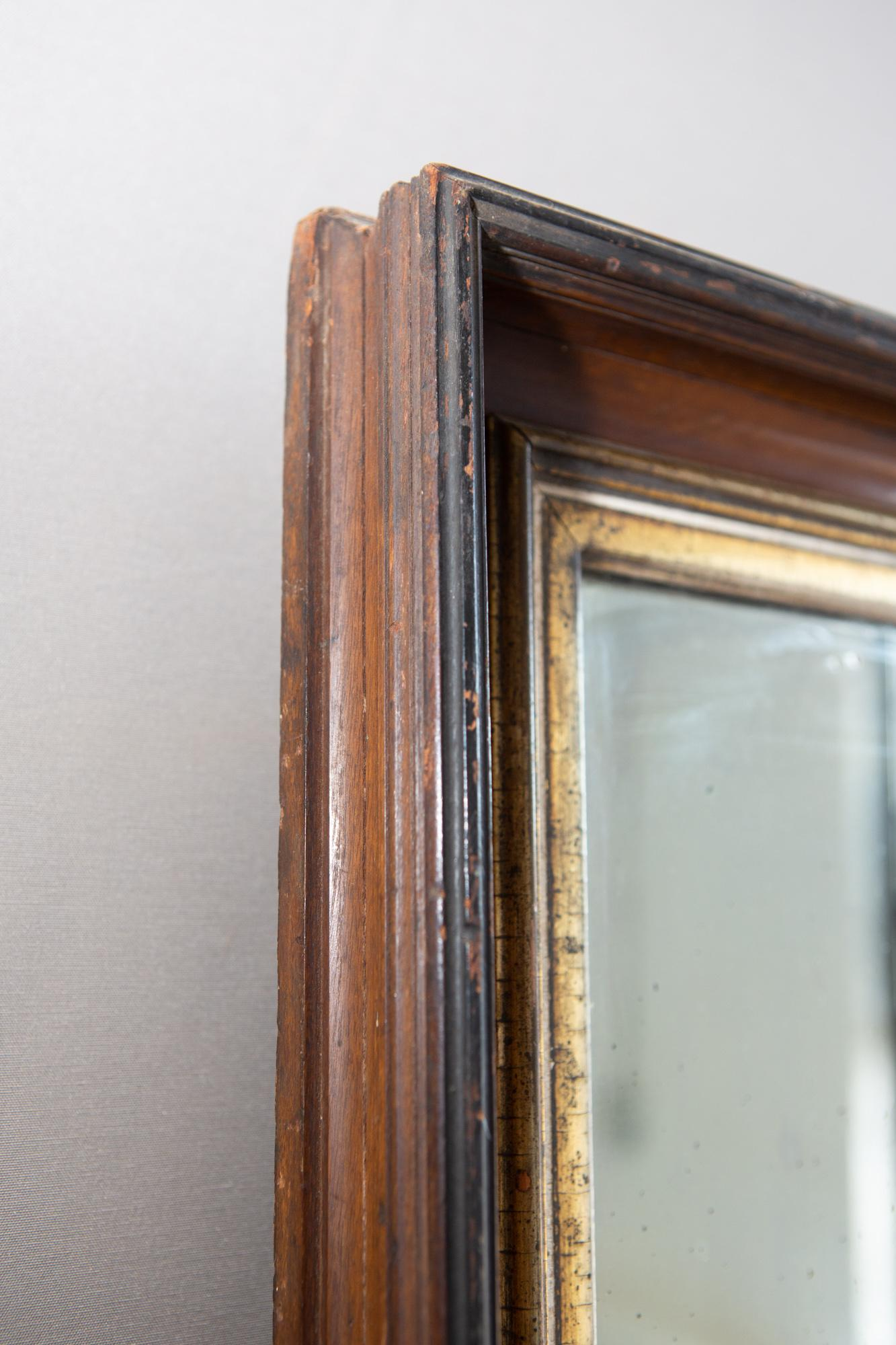 19th Century American Mirror With Antique Glass