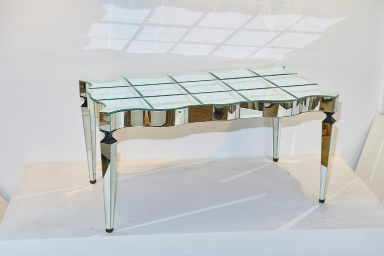 A spectacular and dramatic table made for one the most dramatic actresses ever, Joan Crawford. This table was designed by Billy Haines for her Brentwood residence. She cherished it, and it was moved to several of her residences. When she decided to