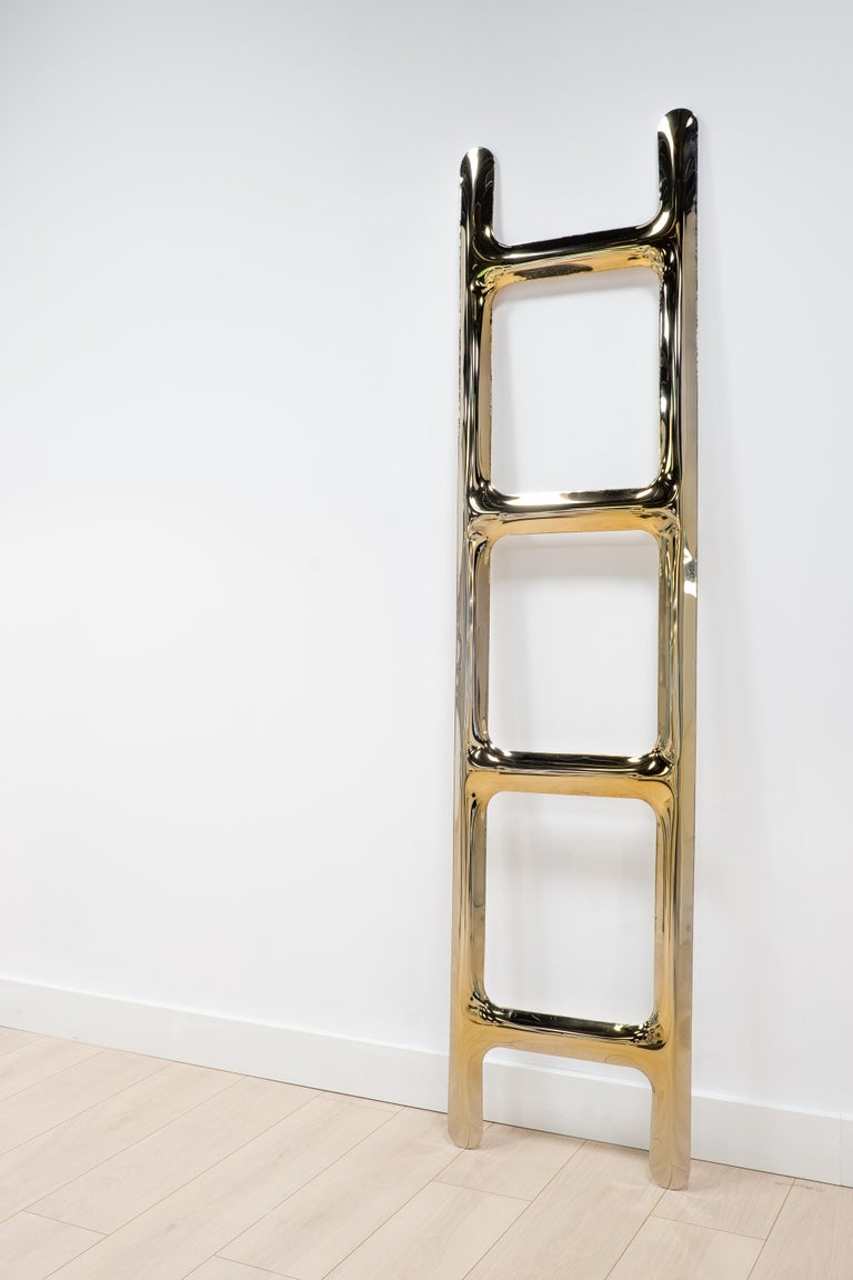 Modern Heat Collection Drab Hanger in Gold Stainless Steel by Zieta For Sale