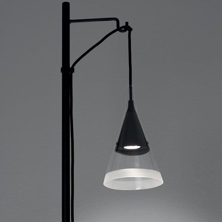 Modern Artemide Vigo Floor Light in Black by David Chipperfield For Sale