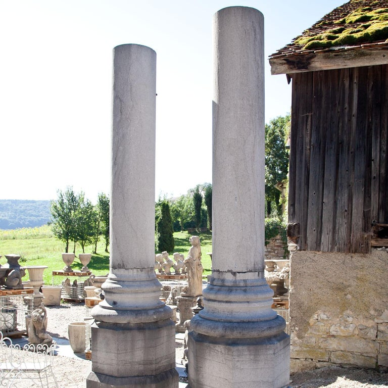 European Monumental Pair of Columns For Sale