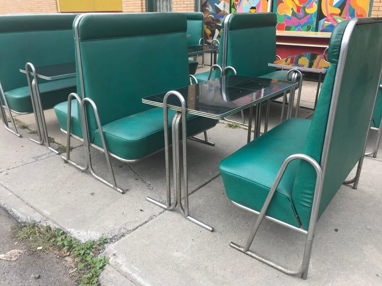 American Original Art Deco Diner, Seats 40 Designed by Wolfgang Hoffmann for Howell 1930s For Sale