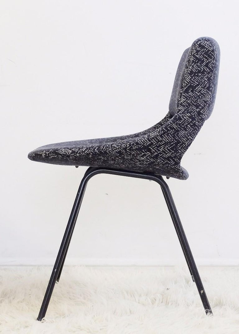 Mid-Century Modern Pair of Chairs by Louis Paolozzi For Zol, New Upholstered For Sale