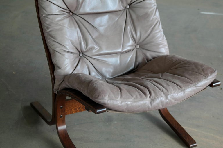 Mid-Century Modern 1960s Leather Easy Chairs Model