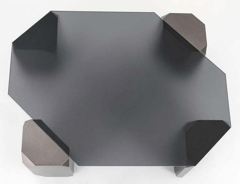 Modern Stonehenge Coffee Table by Avram Rusu Studio For Sale