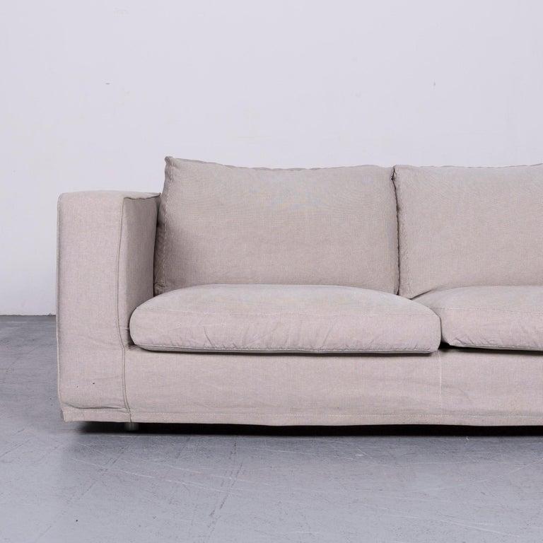 Modern B&B Italia Basiko Fabric Sofa Grey Two-Seat Couch