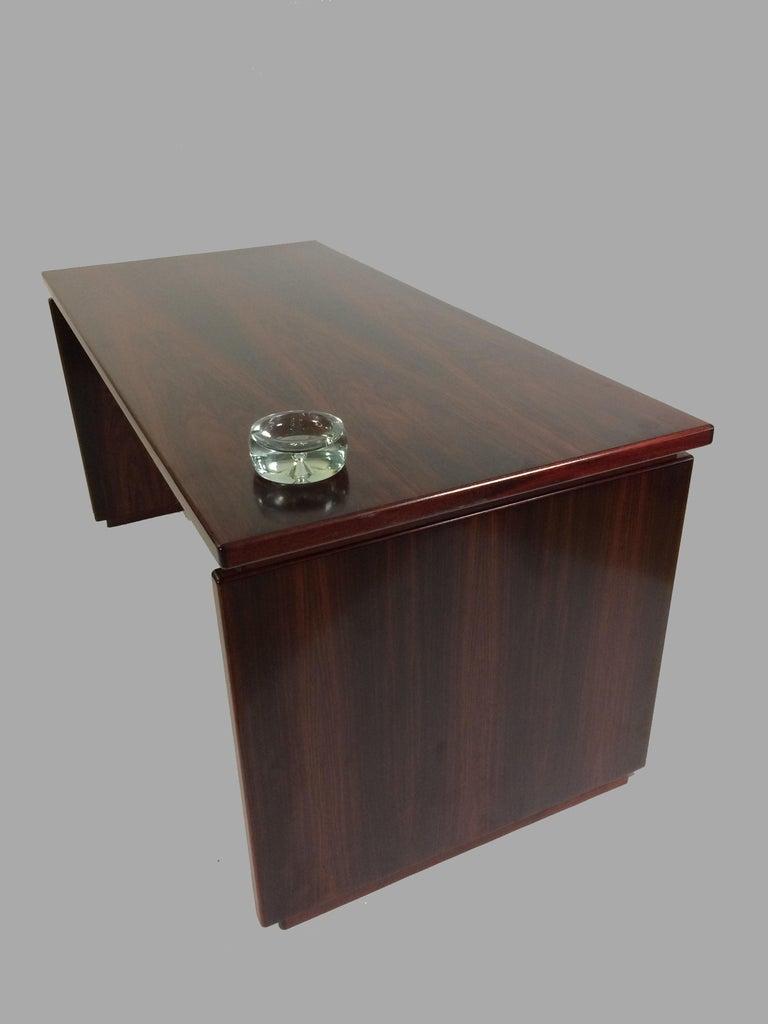 Scandinavian Modern 1990s Excecutive Desk in Rosewood by Bent Silberg for Bent Silberg Mobler For Sale