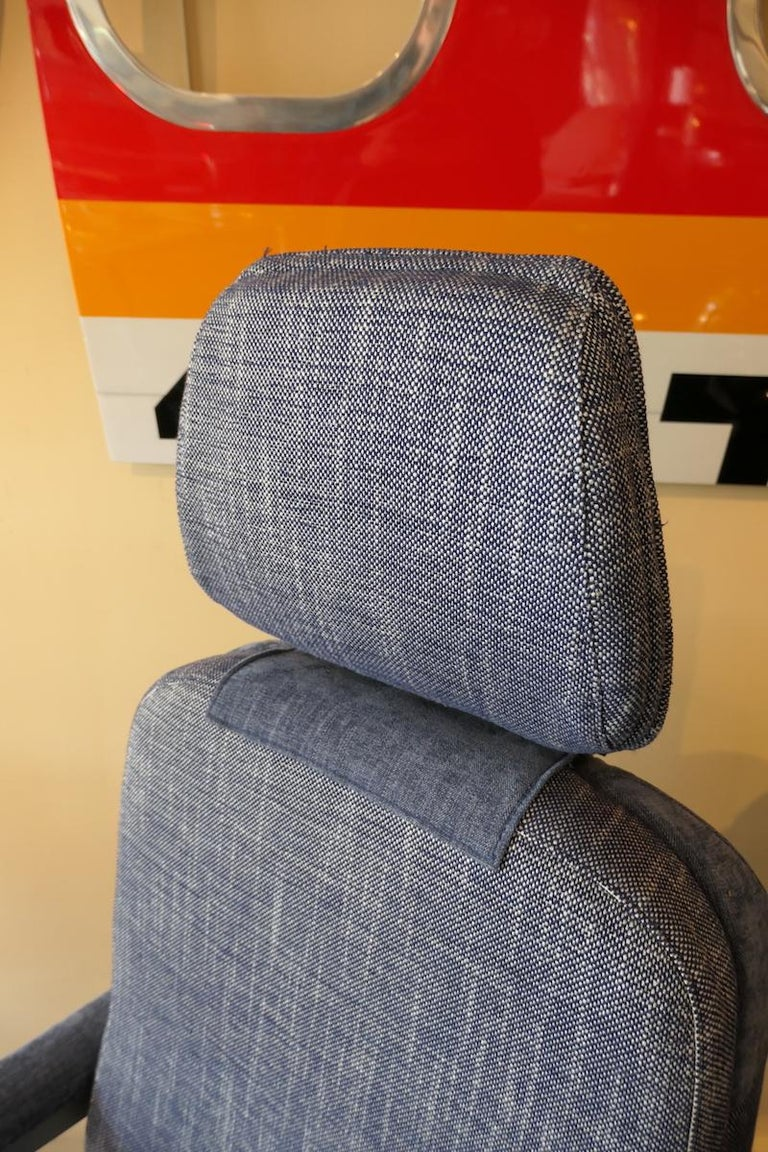 Industrial Operator Airplane Seat Built by Sogerma from a Douglas DC-8 For Sale
