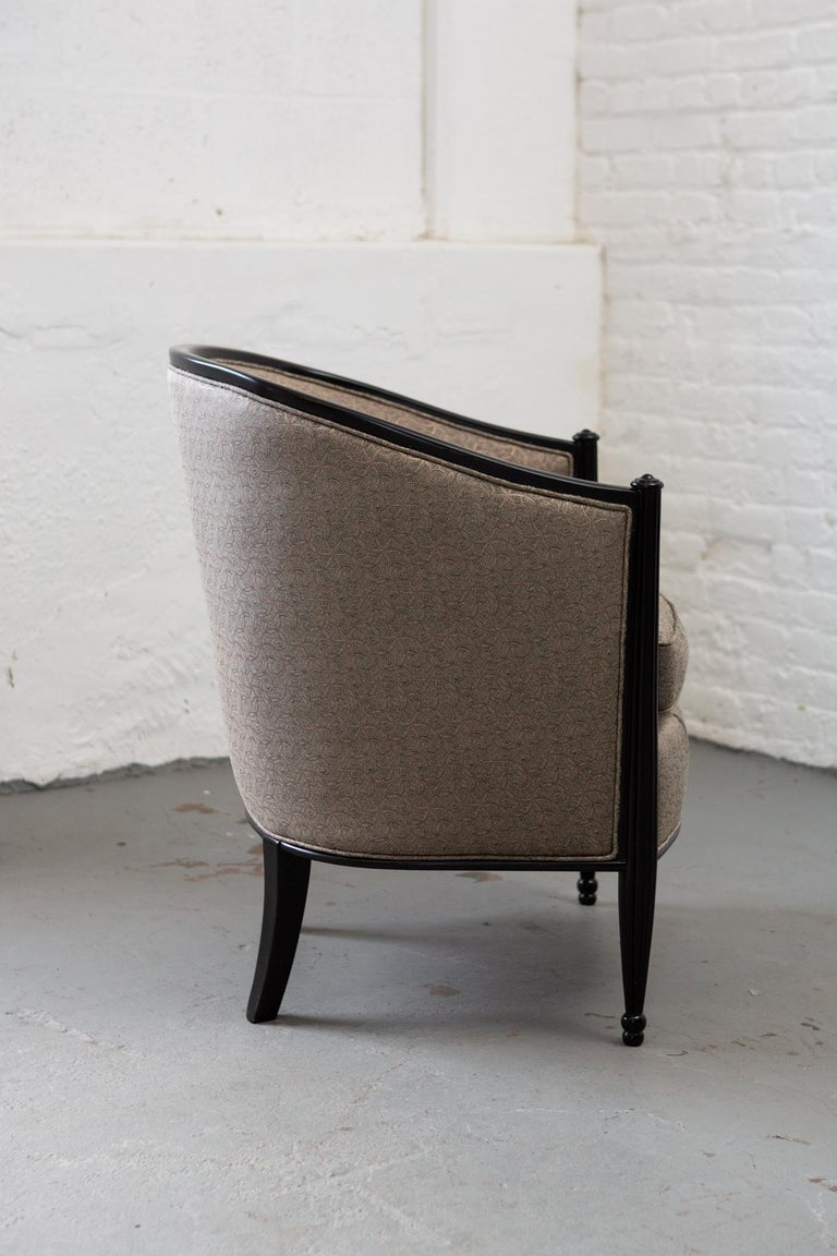French Art Deco Tub Chair In Excellent Condition For Sale In New York, NY