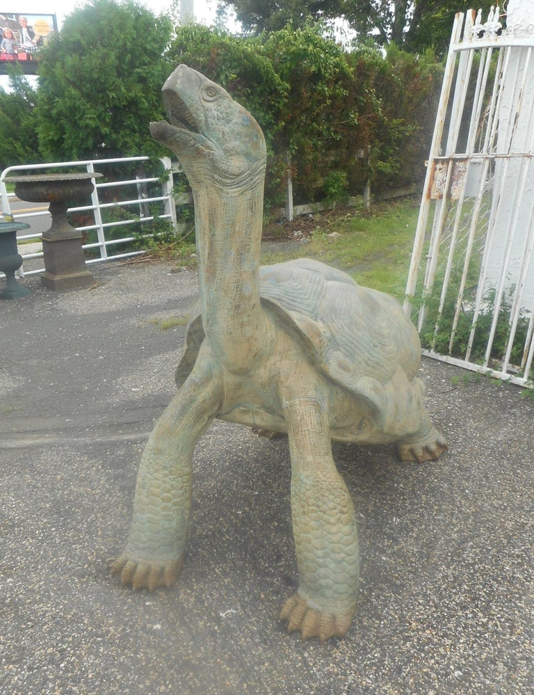 Country Enormous Bronze Turtle Fountain For Sale