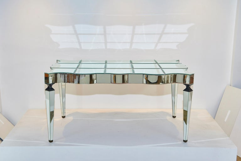 William Haines Mirrored Table Made for Joan Crawford In Good Condition For Sale In Los Angeles, CA