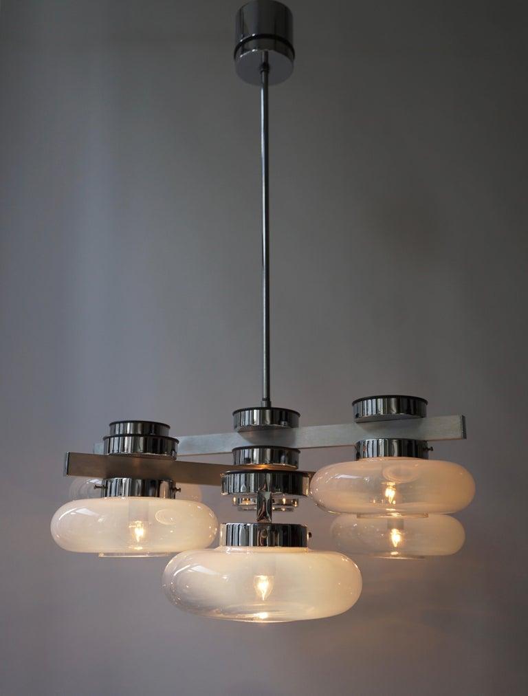 Mid-Century Modern Italian Murano Glass Chandelier For Sale