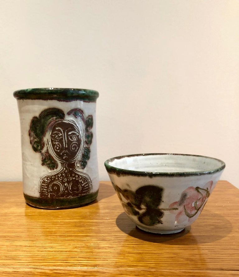 Mid-20th Century Albert Thiry Ceramic Set Vallauris, 1950 For Sale