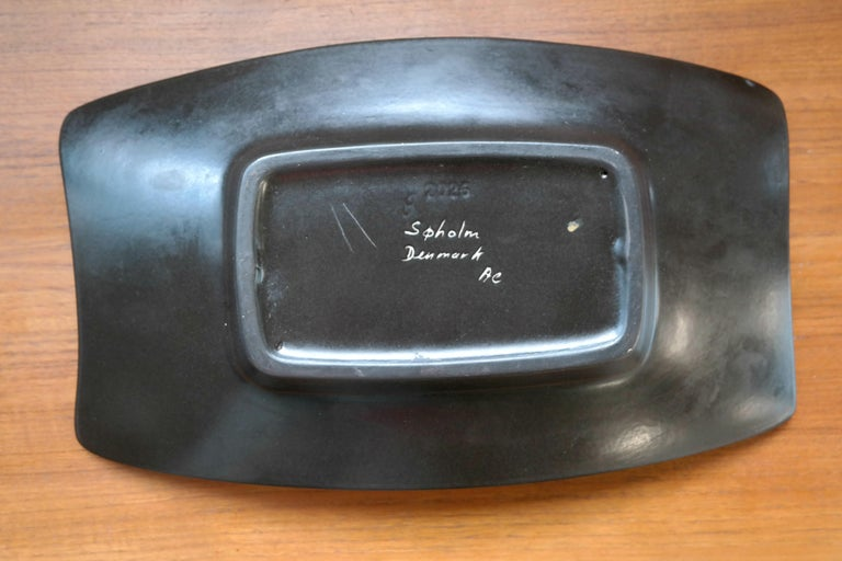 Danish 1950s Large Ceramic Plate by Holm Sorensen and Svend Aage Jensen for Soholm